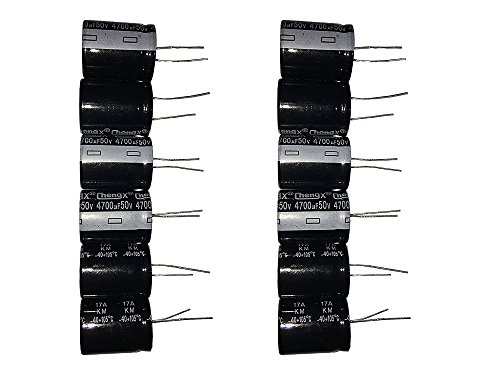 4700uF 50V 22X30 +/-20% -40 to +105°C 6PCS Aluminum Electrolytic Capacitor
