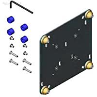 FSB-4239B Custom Interface Bracket for Small Flat Panel Mounts (Black) - Polebright update