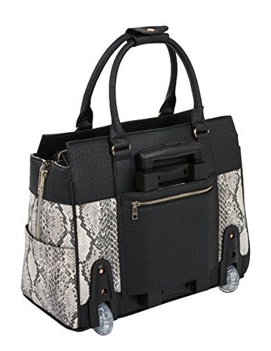 ''THE CORONADO'' Python & Alligator iPad, Tablet & Laptop Carryall Tote Bag by JKM and Company (Image #2)