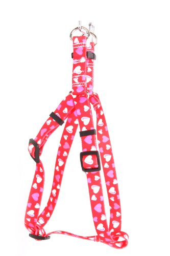 Yellow Dog Design Roman Harness, X-Large, Red Hearts, My Pet Supplies