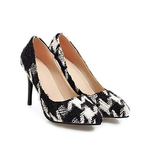 AdeeSu Sandales Noir Femme Compensées SDC05850 UxvwAqU8