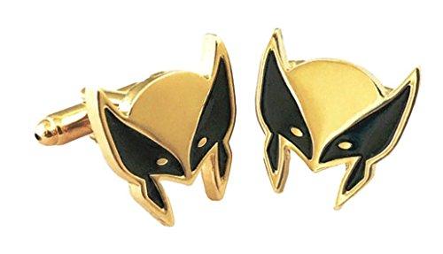 Mainstreet247 Marvel Comics Wolverine Mask GoldTone Metal Cufflinks