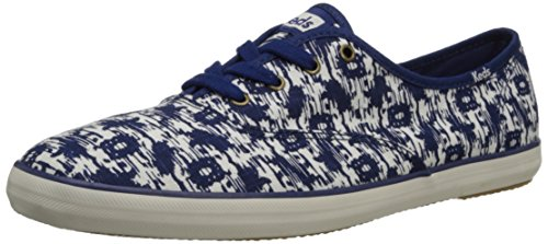 Keds Women's Champion Ikat Oxford,Twilight Blue,10 M US