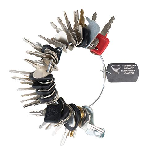 Construction Equipment Master Keys Set-Ignition Key Ring for Heavy Machines
