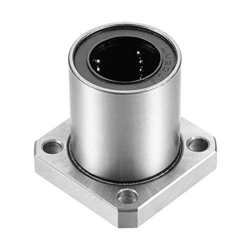 uxcell LMK20UU Square Flange Linear Ball Bearings, 20mm Bore Dia, 32mm OD, 42mm Length