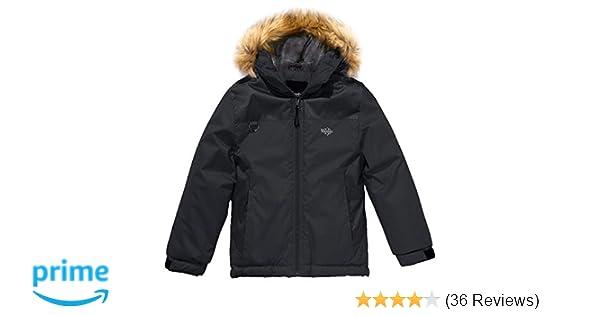 13352a8c4 Amazon.com  Wantdo Boy s Waterproof Ski Jacket Winter Coat Hooded ...