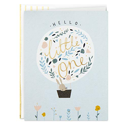 Hallmark Good Mail Baby Shower Card (Hello Little One) (Welcome To The World Baby Girl Card)