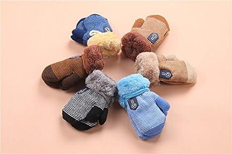 7b378094022c Amazon.com  MarJunSep 2-Pack Winter Warm Baby Gloves Full Fingers ...