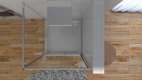 Olimpo - Mampara de Ducha Angular H195 con 2 Puertas correderas de ...