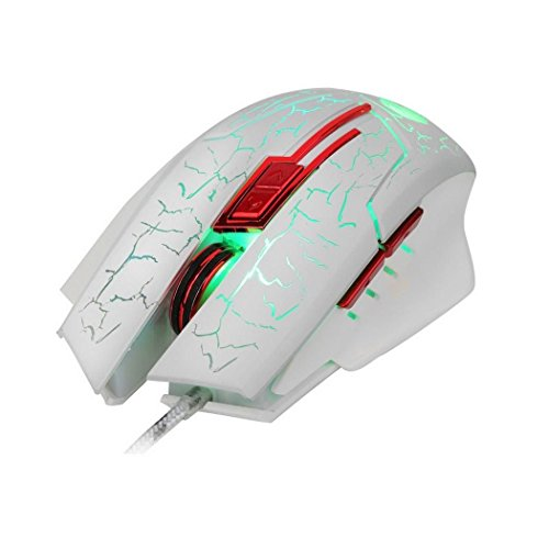 6 Key Cable Game Photoelectric Crack Light USB Mouse
