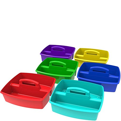 Storex Large Caddy, 13 x 11 x 6.38, Assorted Colors, Case of 6 (00948E06C)