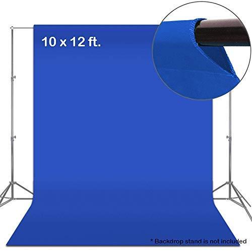 (Julius Studio 10 x 12 ft. Blue Chromakey Fabric Backdrop Background Screen, Photo Video Studio, TEMJSAG475)