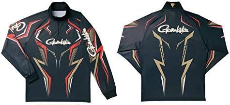 がまかつ(Gamakatsu) 2WAY プリントジップシャツ長袖 ブラック/ゴールド LL GN3540 ブラック/ゴールド LL