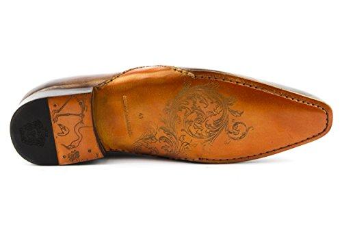 MELVIN & HAMILTON Herren Ethan 10 Budapester Business Schnürer Gold Gr. 42