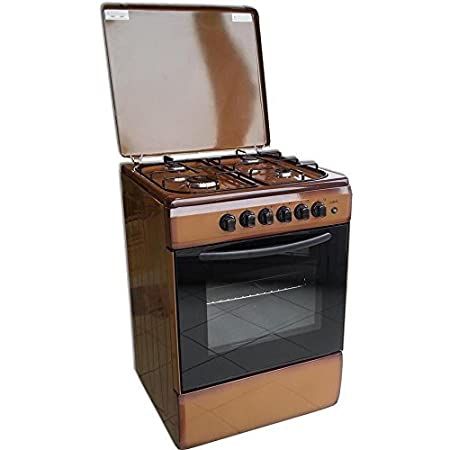 Cocina a Independiente larel 60 x 60 Marrón con horno a gas Metano ...