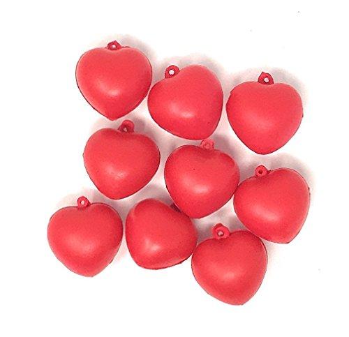 Heart Shaped Stress Ball - 50 Bulk Mini Red Heart Shaped Stress Balls