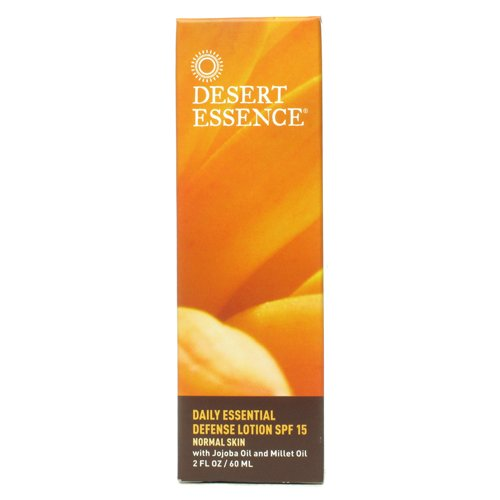 Desert Essence Daily Essential Defense Lotion SPF 15, 2 Fluid - Face Desert Essence Cream