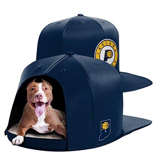 NAP CAP NBA Indiana Pacers Team Indoor Pet Bed, Navy - Pet Cap Navy