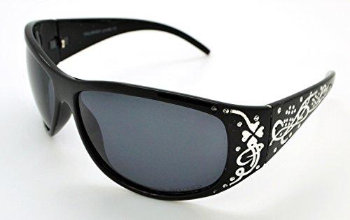 VOX Polarized Trendy Classic Womens Hot Fashion Sunglasses w/FREE Microfiber Pouch - Black Frame - Smoke - Sunglasses Vox