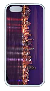 glitter covers seattle night skyline TPU White Case for iphone 5/5S