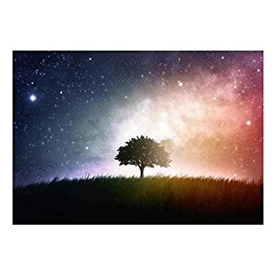 Made For You, Fascinating Expertise, A Lone Tree Sitting in a Field with a Background of a Multicolored Night Sky Wall Mural