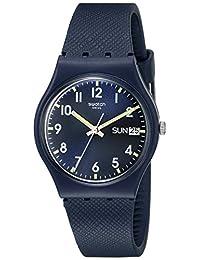Swatch Unisex GN718 Originals Analog Display Swiss Quartz Blue Watch