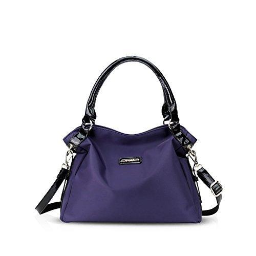 (NICOLE&DORIS 2018 New Women Handbags PU Leather Shoulder Bags Top-Handle Satchel Tote Bags Blue)