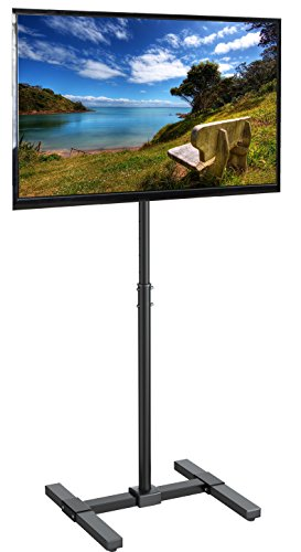 VIVO TV Floor Stand for 13 to 42 inch Flat Panel LED LCD Plasma Screens | Portable Display Height Adjustable Mount (STAND-TV07) ()