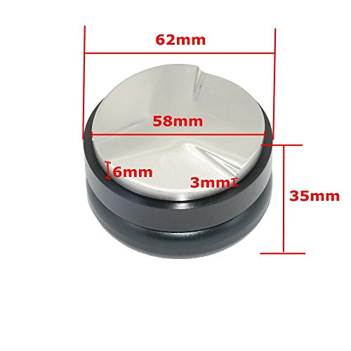 500g Espresso 58mm Coffee Distributor Leveler Tool Macaron Coffee Tamper with Three Angled Slopes for 58mm Portafilter (Black)