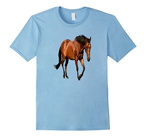 Farm Theme Party Costumes (Mens Horse Costume Shirt A Day On The Farm Birthday Theme Party XL Baby Blue)