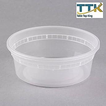 HD 8 oz para microondas Contenedor de plástico translúcido, cierre ...