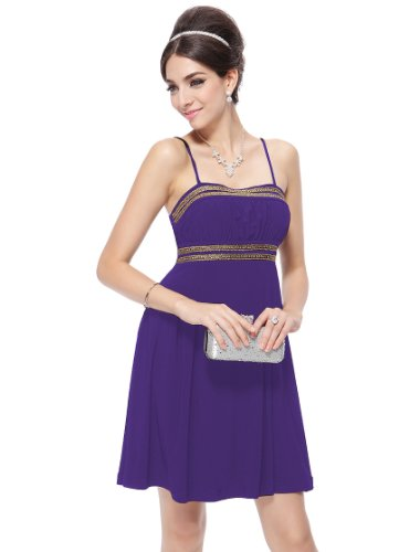 HE08133PP08, Purple, 6US, Ever Pretty Short Casual Dress For Junior 08133