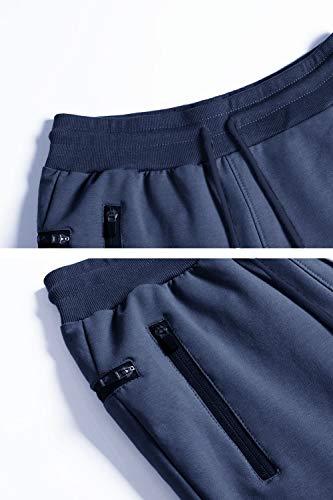 Yidarton Pantalon de Jogging Homme Casual Mode Training Pants Pantalon De Survêtement Taille Élastique Coton Automne…