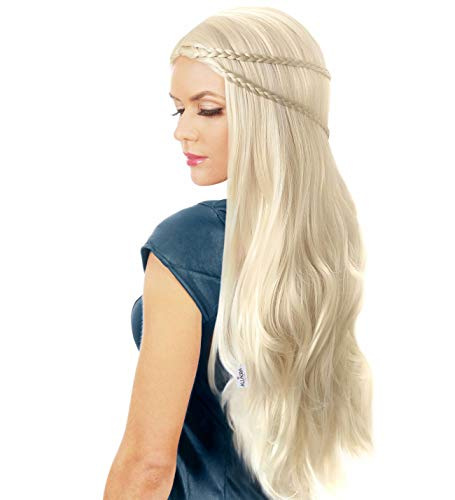 Daenerys Wig + Dragon Pendant + Cap Khaleesi Game of Thrones Costume Wigs Cosplay]()