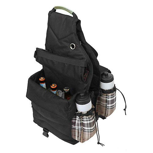 Kensington Insulated Saddle Bag with 2 Water Bottles, Black Ice Plaid