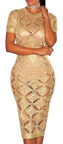 Jaycargogo Couvrir Crochet Sexy Slim Femme En Robe Longue Tunique En Dentelle 1