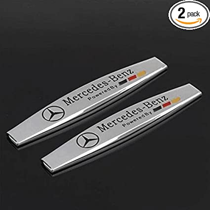 Bzqq 2 Pcs Car Decoration Accessories Zinc Alloy Shuttle Shape Emblem Badge  Decal Fender Side Sticker