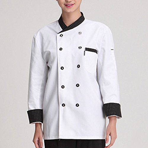 Sleeve Clothes Colors Long Classic Uniform 3 Work Chef White Advanced Unisex Zhhlaixing Zq1xTwpZ