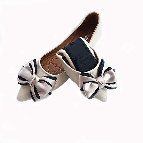FLYRCX Acentuado Solo Zapatos Damas Boca Baja Suave Arco Plano Zapatos Planos Zapatos de Baile Plegable Zapatos de Trabajo, 36 UE 37 EU