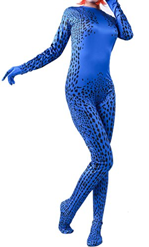 Mystique X Men Costume (Women's Magical Fancy Cosplay Zentai Jumpsuit Bodysuit Suit for Halloween Costume)