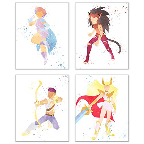 Watercolor She-Ra and The Princesses of Power