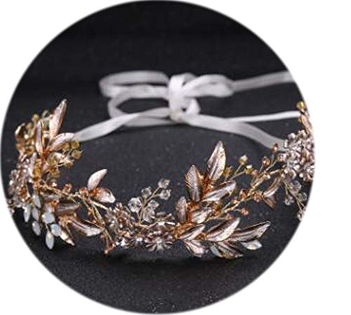 Leaf Headband Baroque Bridal Hairbands Crown Headpiece Headdress Wedding Hair Accessories Bride Tiara Jewelry
