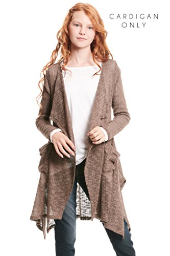 Truly Me, Big Girls Outerwear Bomber Jackets (Many Options), 7-16 (7, Light Brown) by Truly Me