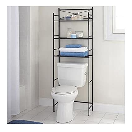 3 Shelf Bathroom Space Saver Storage Organizer Over The Rack Toilet Cabinet  Shelving Towel Rack