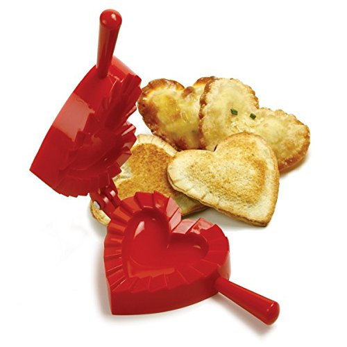 Norpro 1012 Heart Dough and Dumpling Press, Red