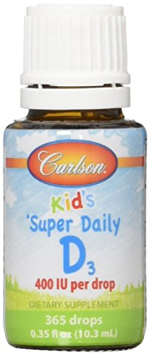 Carlson Labs Super Daily D3 for Kids 400iu Softgels, 0.35...