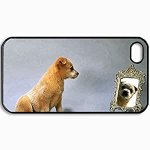 Personalized Protective Hardshell Back Hardcover For iPhone 4/4S, Horses In Mountains Design In Black Case Color
