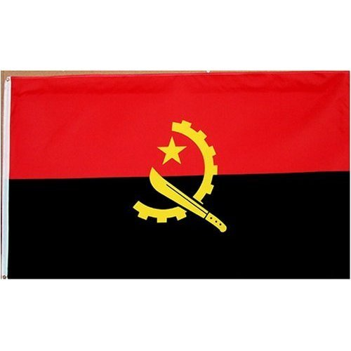 Angola Flag Polyester 3 ft. x 5 ft. Flags Unlimited