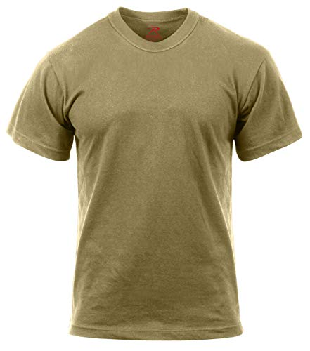 And T-shirt 1 Cotton - Rothco AR 670-1 Coyote T-Shirt, L