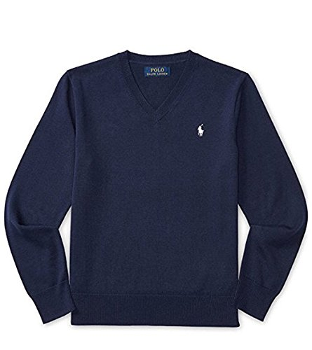 RALPH LAUREN Boys' Cotton V-Neck Sweater Pullover (4/4T) by RALPH LAUREN (Image #1)